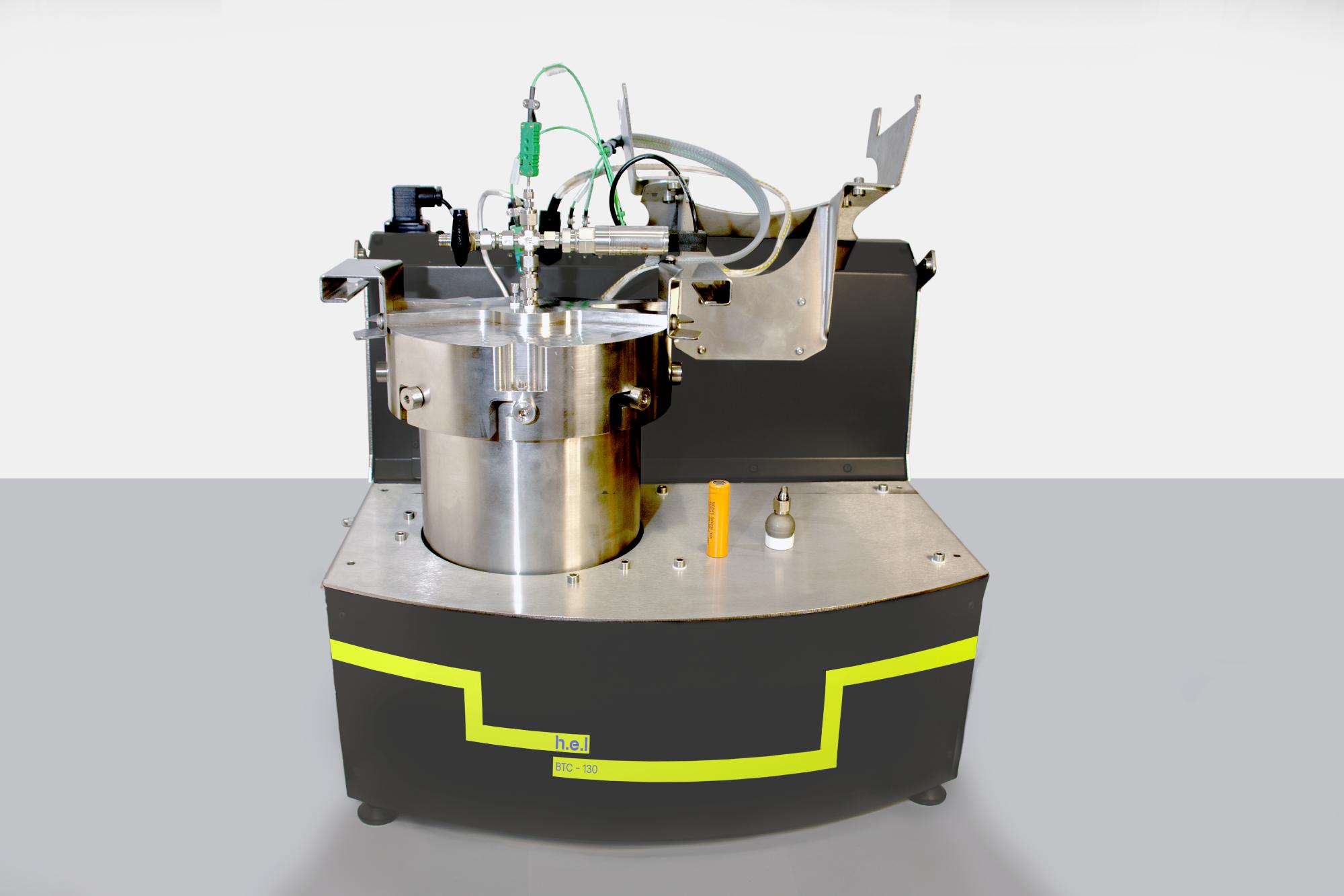 BTC-130: A Bench-Top, Battery Safety Testing, Adiabatic Calorimeter
