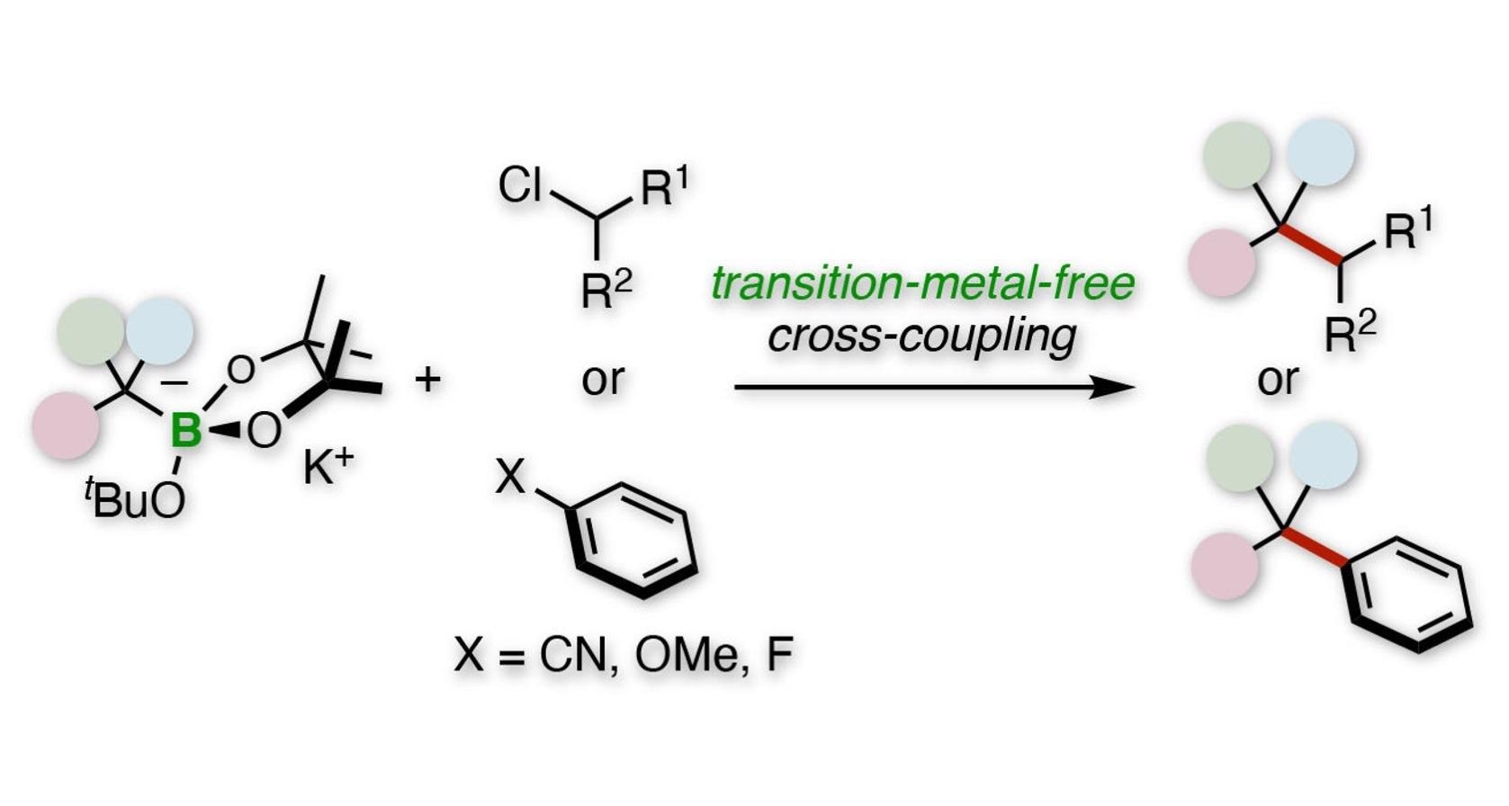 Tertiary alkylative cross-coupling of alkyl or aryl electrophiles.