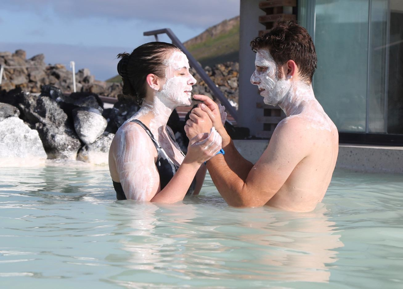 Silica, applied here as mud in the Blue Lagoon in Iceland, was the most environmentally friendly alternative.