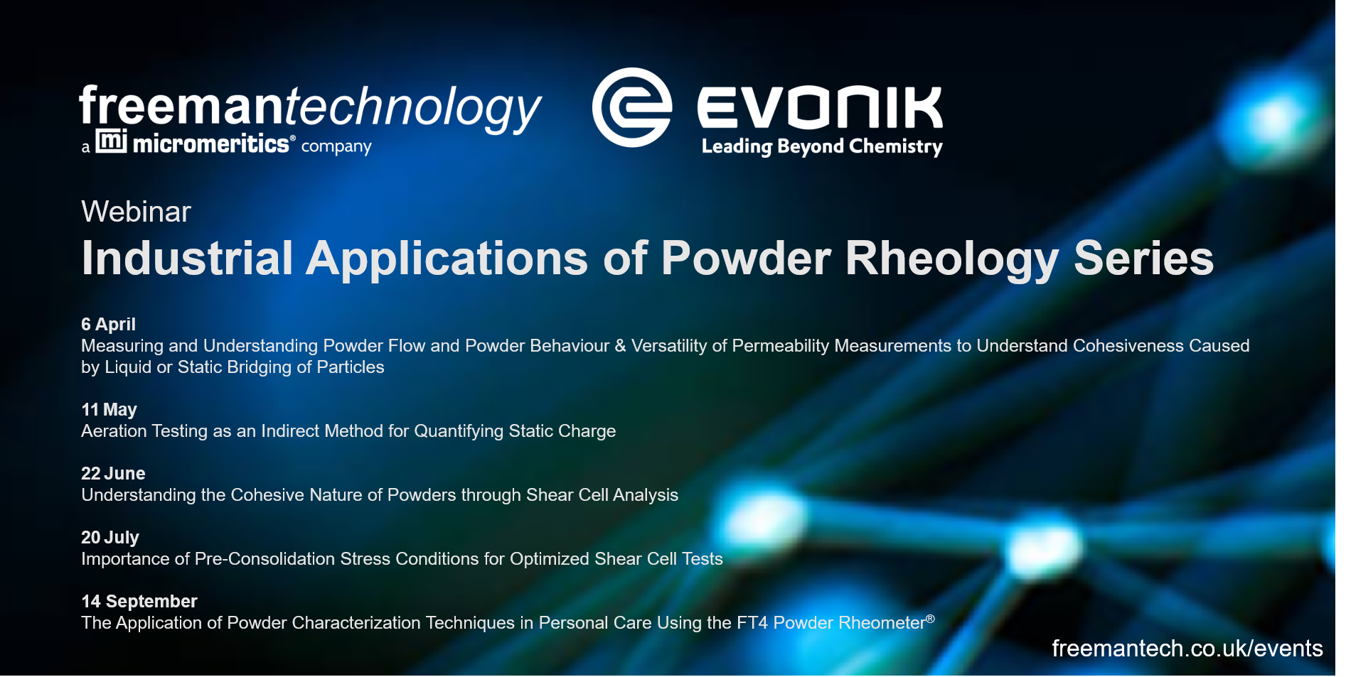 Industrial Applications of Powder Rheology Webinar Series