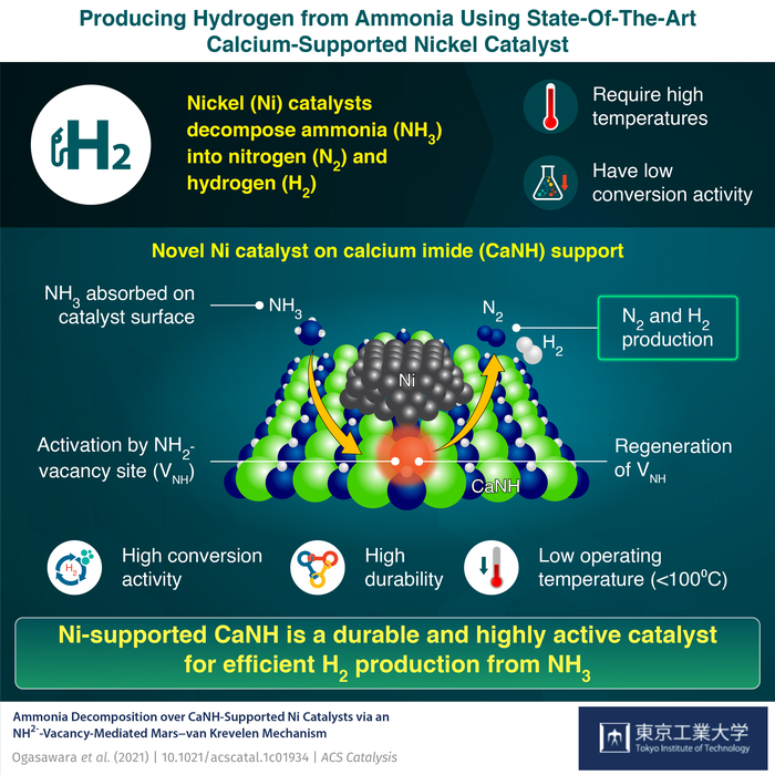Novel Catalyst to Achieve Better Ammonia Conversion for Hydrogen Synthesis
