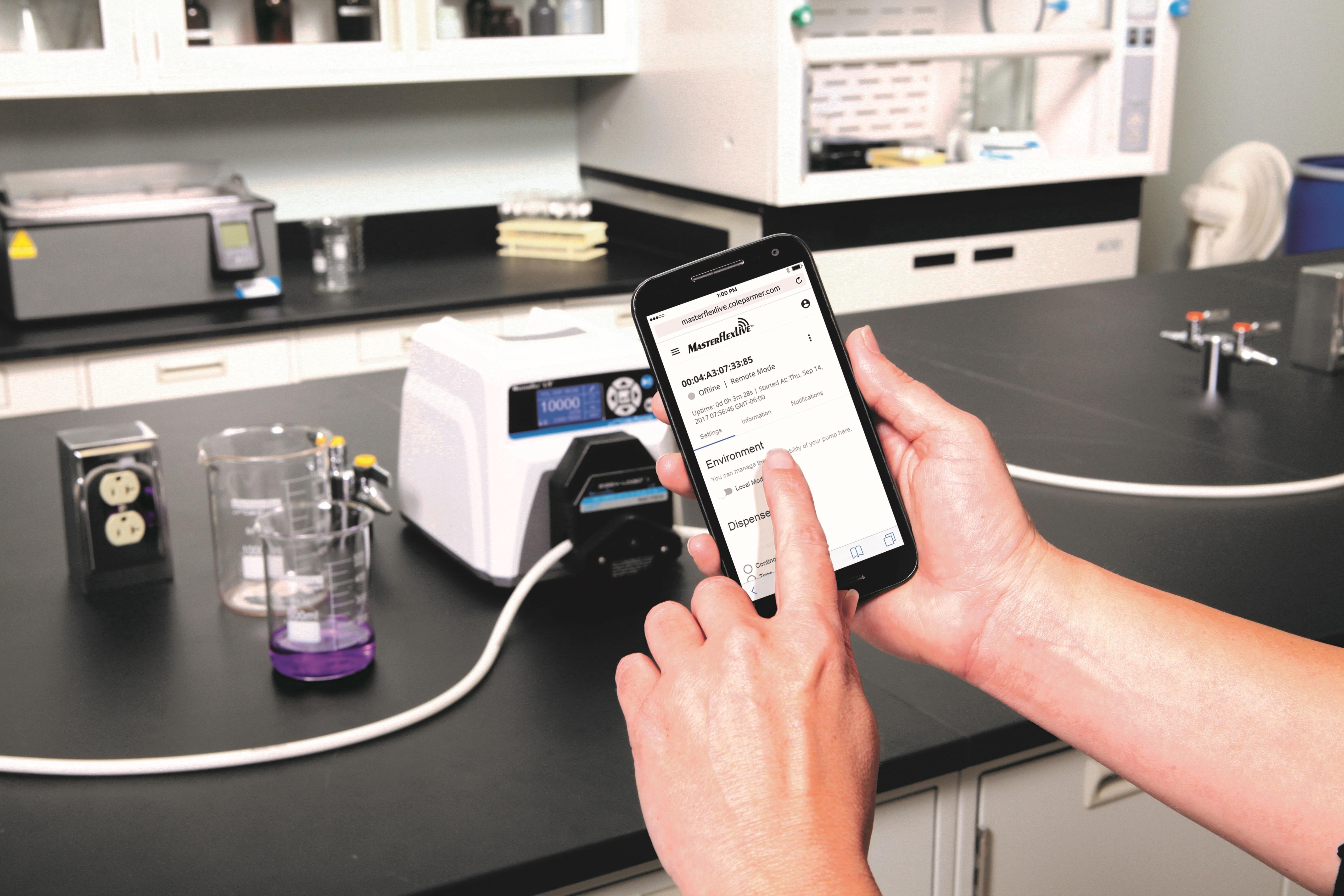 Cole-Parmer Launches MasterflexLive™ Cloud-Enabled Peristaltic Pumps