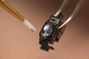 Biocompatible, Nanosilica Filled LED Curable Adhesive