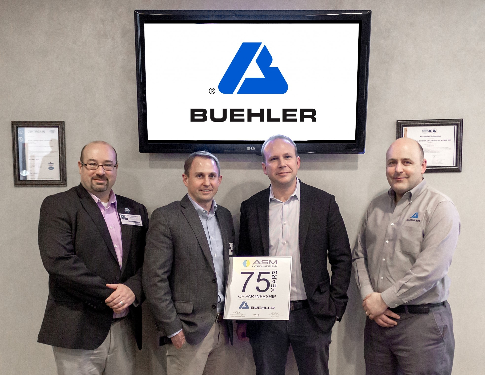 Buehler Celebrates 75 Years Partnership with ASM International Leading the Way for Industry 4.O with Innovations and Training in Metallography