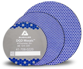 Buehler Introduces Mosaic Diamond Grinding Discs for Sample Preparation They are Used to Grind Steel, Alloyed Metals and Hard Materials
