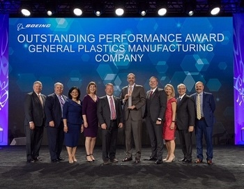 "General Plastics Receives ""Supplier of the Year"" from Boeing"