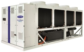 Carrier's Most Efficient Variable-Speed Air-Cooled Screw Chiller is Now Available in HFO Version