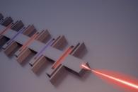 Random Array of Photonic Crystals Greatly Improve Laser Beam Scanning