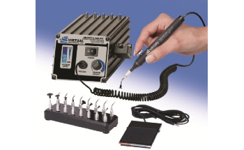 Virtual Industries' 220 V AC ADJUST-A-VAC® ESD-Safe Kit With Foot Switch, ESD-Safe Delrin Small Parts Tips