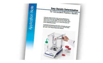 Easy Density Determination for Consistent Plastics Quality with a Free METTLER TOLEDO Application Note