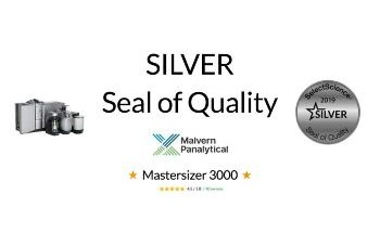 Malvern Panalytical's Mastersizer 3000 Wins Seal of Quality