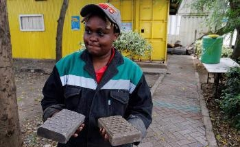 The Newly Developed Plastic Waste Bricks Used for Construction