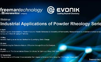 Industrial Applications of Powder Rheology Webinar Series
