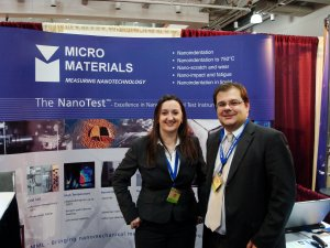 MICRO MATERIALS , Denise Hoban, International Business Development Manager and Adrian Harris, Sales and Applications Engineer