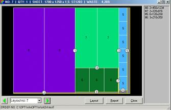 QuickOPT - Sheet Shearing Optimization Software