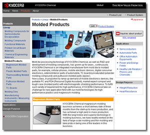 Kyocera Chemical Corp - Molded Products