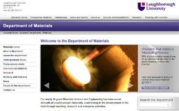Loughborough University, Department of Materials