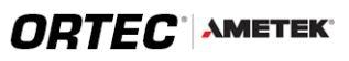 ORTEC logo.