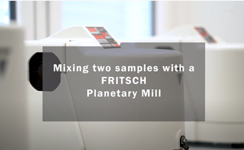 FRITSCH Planetary Mill: Mixing Two Samples