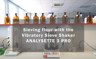 Sieving a Flour Sample with the Vibratory Sieve Shaker