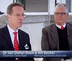 AZo.TV Interviews Dr Jan Stefan Roell and Bill Becker from Zwick-Roell at testXpo 2012 in Ulm Germany