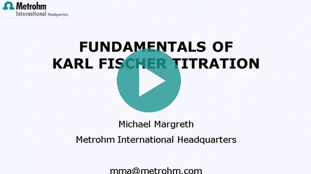 KF titration: Fundamentals