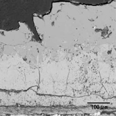 AZoJoMo - Journal of Materials Online - Microstructure of oxidized layer of WC hard-metal chip at 1300°C.  SEM image