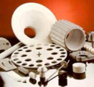 Various parts manufactured from RBSN (photo courtesy of CERAM Research Ltd).