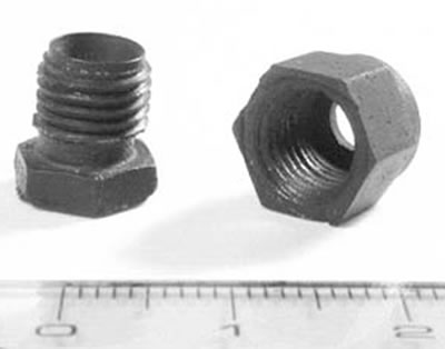 AZoJoMo – AZoM Journal of Materials Online - The model made bolt and nut shaped 3D Al2O3/5 vol% Ni nanocomposite.