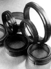 Carbon-graphite seals are self lubricating, resistant to chemical corrosion, and capable of running at temperatures up to 538 °C.