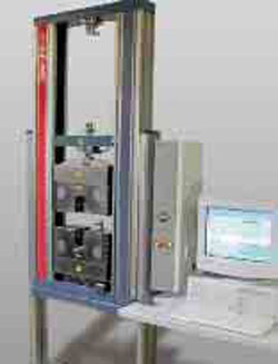 Materials testing machine Z050 with legs and testControl PC variant