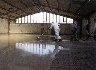 AZoM - Metals, Ceramics, Polymer and Composites : Architectural Concrete – self-smoothing floor screed