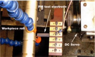 AZoM - Metals, Ceramics, Polymer and Composites : Roll texturing  using a Electrical Discharge Machining set up for Surface Alloying.