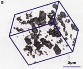 AZoM - metals, ceramics, polymers and composites : 3-D reconstructed image of a nickel alumina composite.
