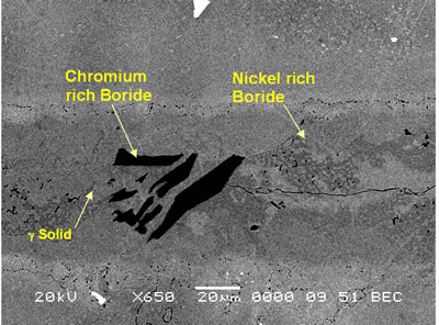 AZoJoMo – AZoM Journal of Materials Online : SEM secondary electron micrograph of centerline eutectic constituent