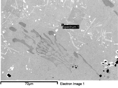 AZoJoMo – AZoM Journal of Materials Online : SEM EDS spectrum from MC carbides in brazed joint