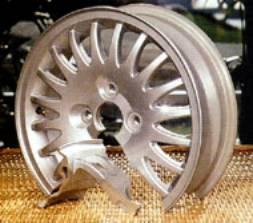 A friction stir welded aluminium wheel.