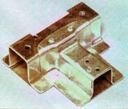 A friction stir welded aluminium connector.